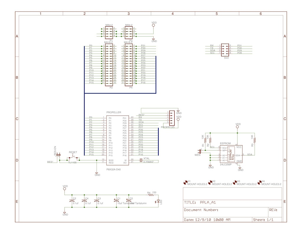 Wulfdenshoppepropellerppla Logic Analyzer Diagram Headers Assembled Ppla Stacked Between A Pp Usb And Vga Av Board 2nd Row Propalyzer Screen Pcb Layout Schematic