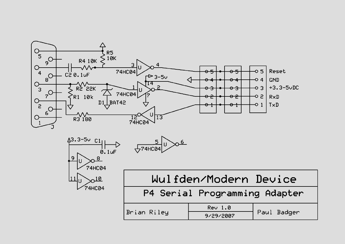 Wulfdenshoppeserialprogramming Schematic Of The Rs232 Adapter Click To Enlarge Available